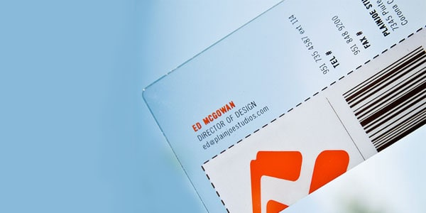 plain joe studios 60+ Cool Transparent Business Card Designs