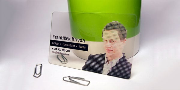 plastic business card 60+ Cool Transparent Business Card Designs