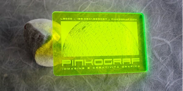 plexiglass plastic business cards 60+ Cool Transparent Business Card Designs