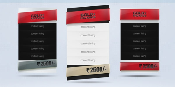 price table set of 3 psd 30+ Cool Pricing Tables PSD