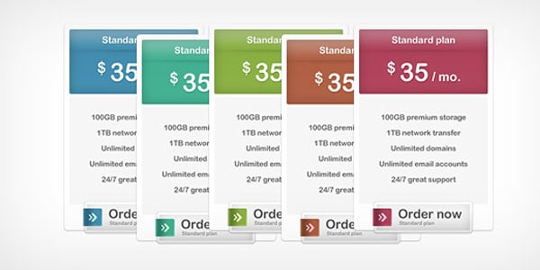 pricing tables 30+ Cool Pricing Tables PSD