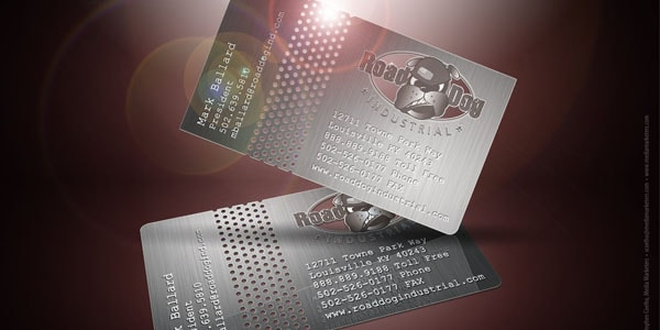 road dog business card design 30+ Awesome Metal Business Card Designs