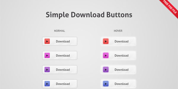 simple download buttons 20+ Free PSD Upload Download buttons