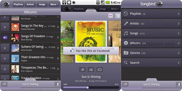 songbird 20+ Best Android Music Player Apps