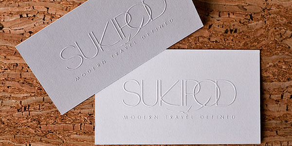 sukipod business cards 60+ Embossed Business Cards for Inspiration