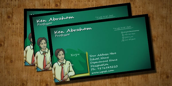Teacher business card psd colourmoves Images