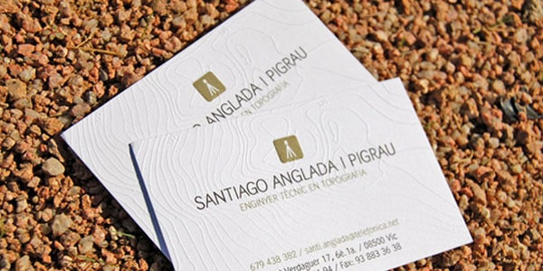 topographical business card. 60+ Embossed Business Cards for Inspiration