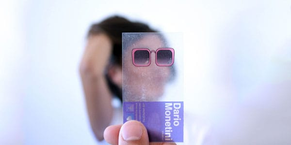 transparent plastic businesscards 60+ Cool Transparent Business Card Designs