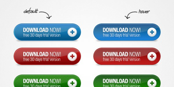 trial Buttons 20+ Free PSD Upload Download buttons