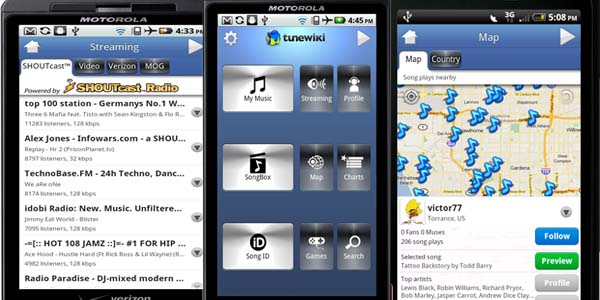 tunewiki 20+ Best Android Music Player Apps