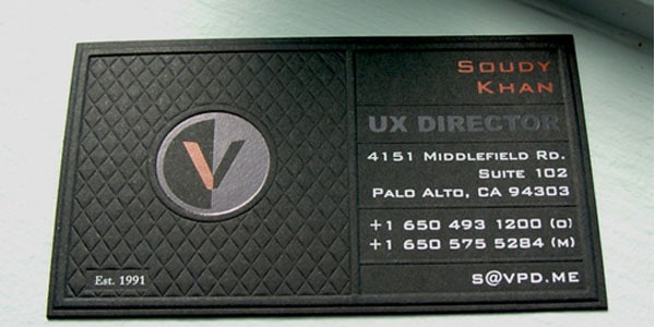 vpd business card 60+ Embossed Business Cards for Inspiration