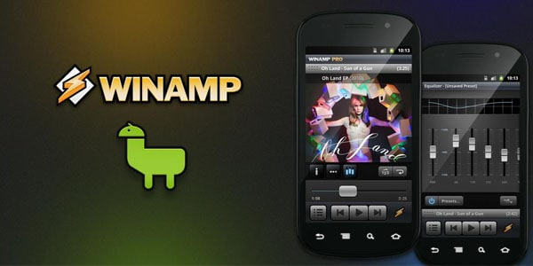 winamp android media player