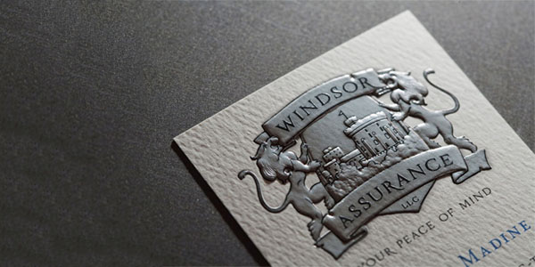 windsor assurance llc 60+ Embossed Business Cards for Inspiration