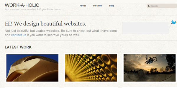 workaholic 15+ Free Photography website templates