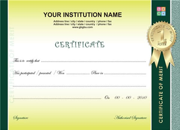 Sport Certificate Templates Sports Certificate Background Images Galleries With A Bite