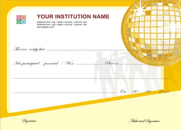 Free certificate templates certificate template yelopaper Images
