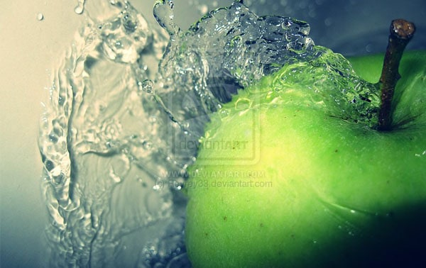Aqua Apple 50 Cool Examples of High speed Photography