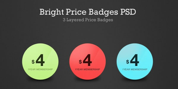 Bright Price Badges PSD 20 Free Price Tags PSD | Pricing Templates