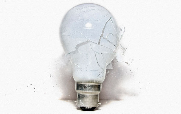 Broken Light Bulb 50 Cool Examples of High speed Photography