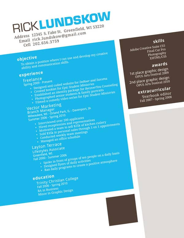 Lundskow Resume by DrunkHobo 30+ Creative Designer Resumes to Grab Attention