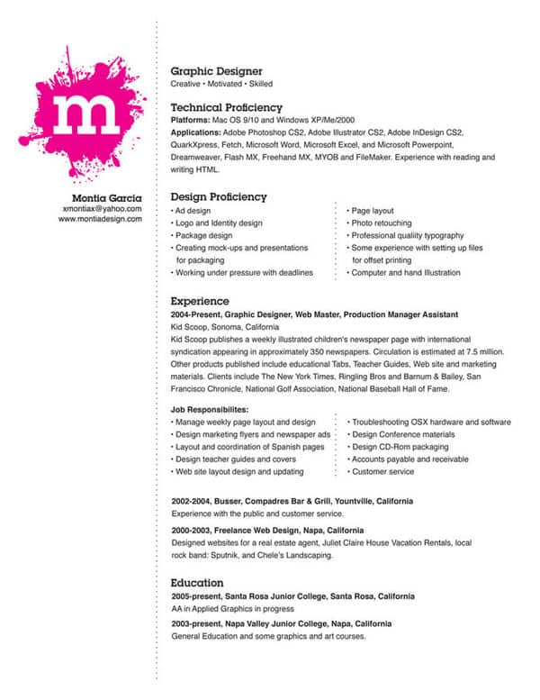 My Resume by montia 30+ Simple Resume Design Ideas that work