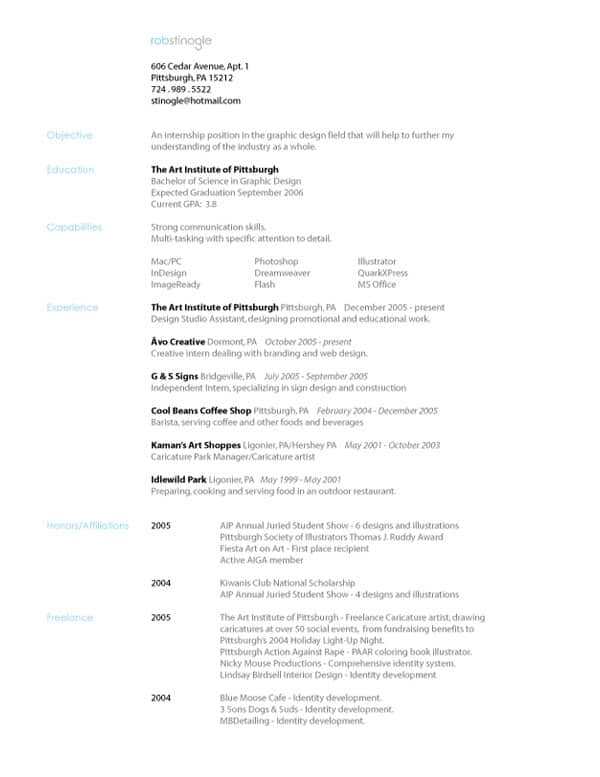 Resume by Stinoga 30+ Simple Resume Design Ideas that work