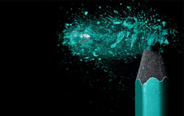 Shattered tip 50 Cool Examples of High speed Photography