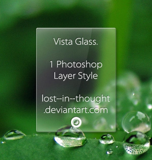Vista Glass Style by lost  in  thought 600+ Free Photoshop Layer Styles