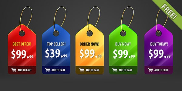 badges 20 Free Price Tags PSD | Pricing Templates