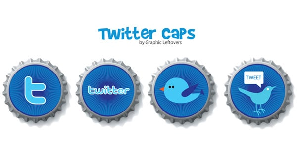 caps 25+ Free Twitter Icons Pack