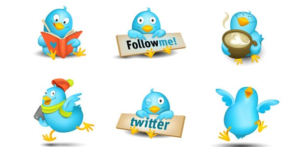 cute twitters preview 25+ Free Twitter Icons Pack