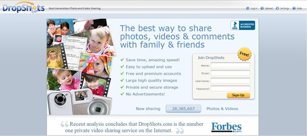 dropshots 15 Top Free Photo Sharing Websites