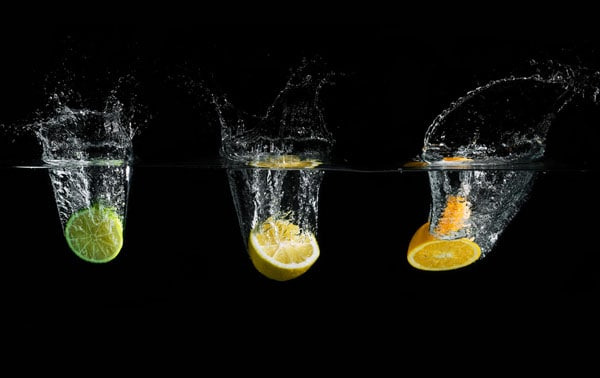 fruit splash trio 50 Cool Examples of High speed Photography