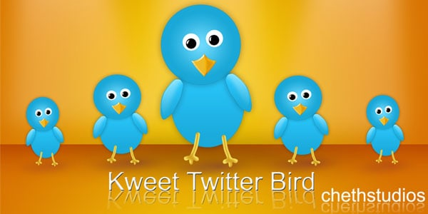 kweet free twitter bird icon 25+ Free Twitter Icons Pack