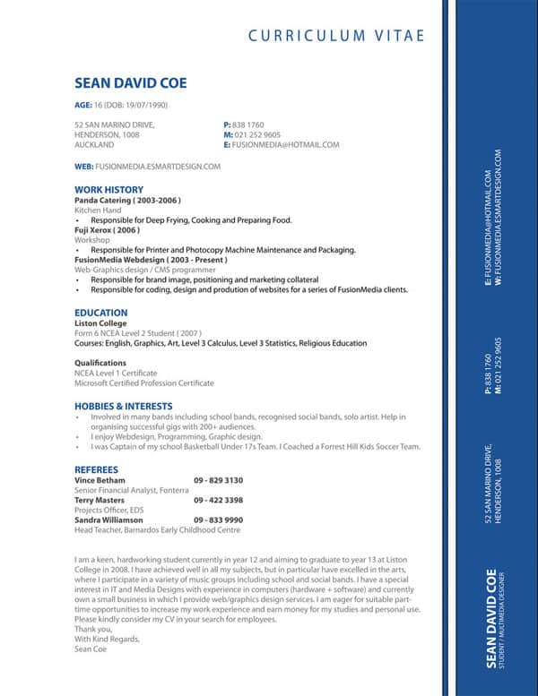 my cv resume by ThatNiqqaSean 30+ Simple Resume Design Ideas that work
