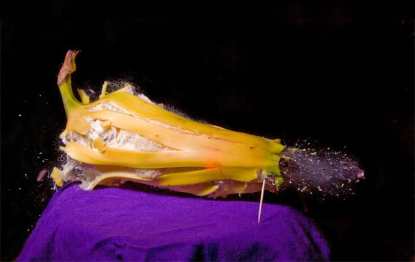 peeled banana 50 Cool Examples of High speed Photography