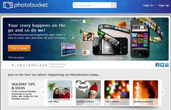 photobucket1 15 Top Free Photo Sharing Websites