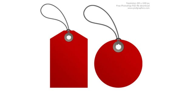 red tags 20 Free Price Tags PSD | Pricing Templates