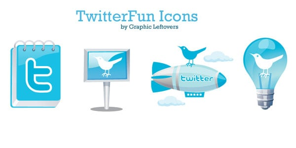 twitterfun 25+ Free Twitter Icons Pack