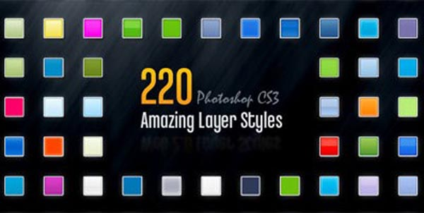 ultimate roundup of photoshop layer styles 1 600+ Free Photoshop Layer Styles