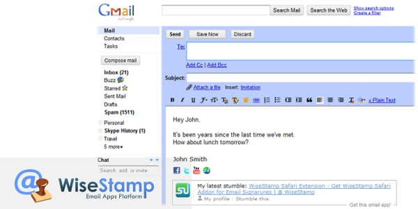wisestamp 10 Must Have Firefox Plugins