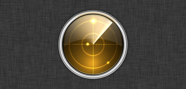 02 icon design radar 20 Cool Icon Design Photoshop Tutorials