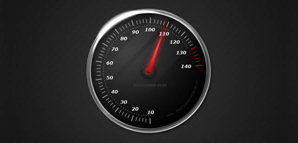 14 icon design speedometer 20 Cool Icon Design Photoshop Tutorials