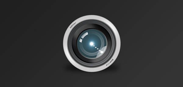 20 icon design camera lens 20 Cool Icon Design Photoshop Tutorials