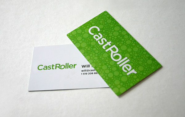 CastRoller 30+ Simple business cards For Everyone
