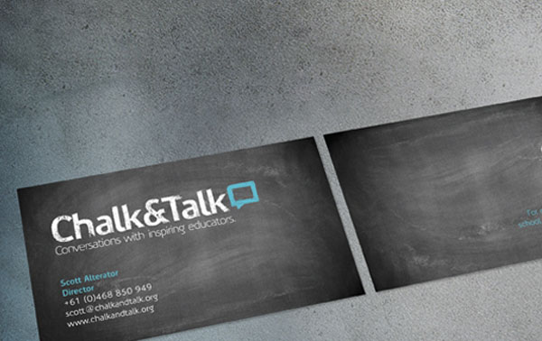 Chalk Talk 30+ Simple business cards For Everyone
