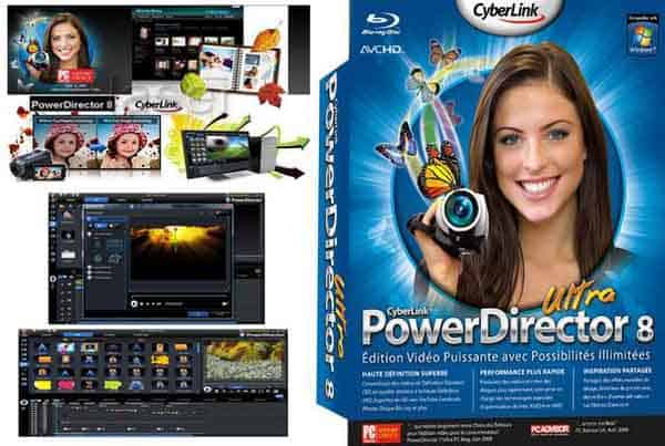 Cyberlink PowerDirector 8 Front Cover 21283 Top Video Editing Softwares