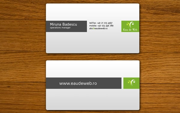 Eau de Web 30+ Simple business cards For Everyone