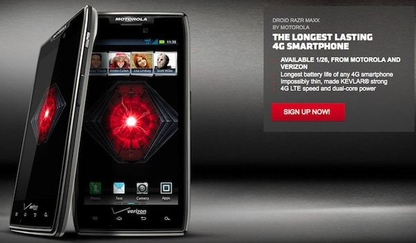 Droid Maxx Will be Available on January 26