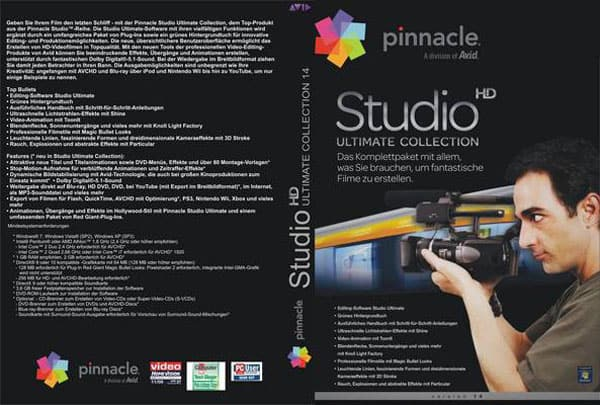 Pinnacle Studio HD Ultimate Collection V.14 Front Cover 36310 Top Video Editing Softwares